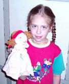 Алла и кукла-перчатка Гретхен